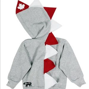 Wolfe and Scamp Toddler Dino Hoodie-Oh Canada!🇨🇦